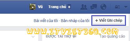 Cách viết chữ to đậm trên Facebook, Viết Ghi chép FB