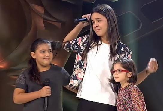 Carmen, Yudit y Pilar Bogado La voz kids