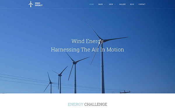Wind Energy – Green Technologies Bootstrap Template