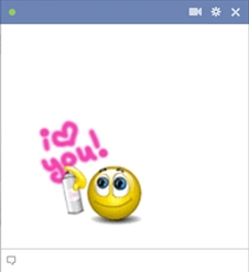 I heart you facebook smiley