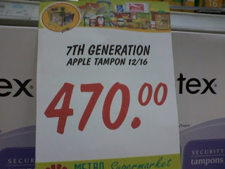 7th Generation Apple Tampons