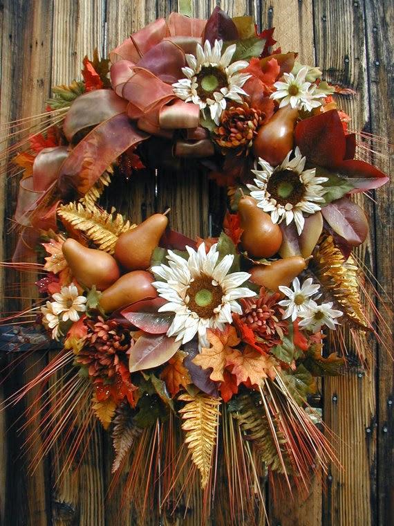fall wreaths, feathers, wreaths