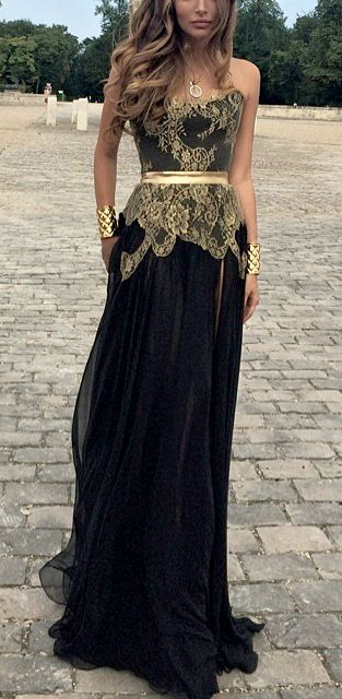 Black + Gold Gown