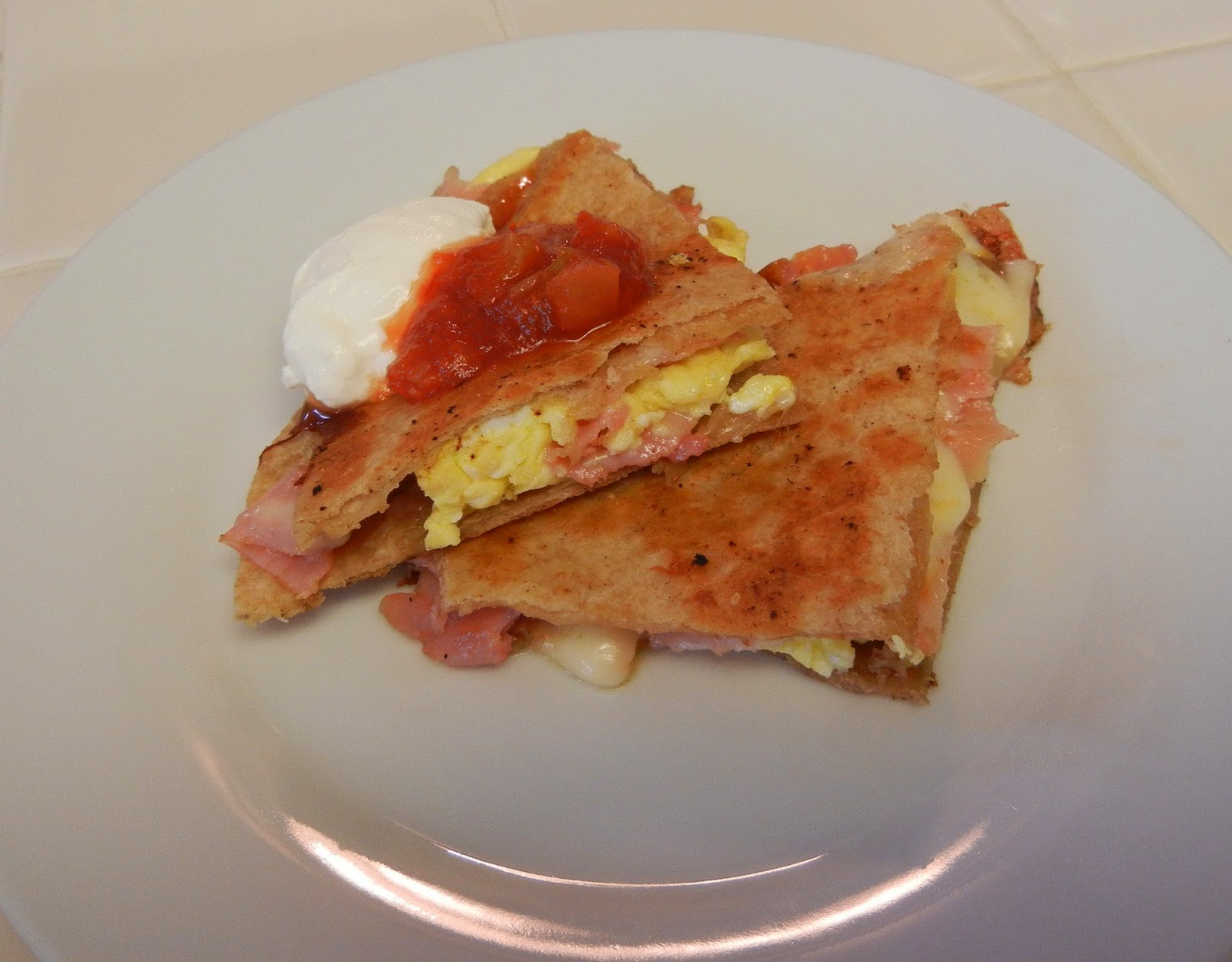Breakfast%2BHam%2BEgg%2BCheese%2BQuesadilla Weight Loss Recipes Post Weight Loss Surgery Menus: A day in my pouch