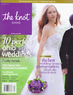 The Knot Ohio Fall Winter 2012 cover, Cleveland wedding planner