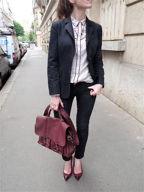 OOTD look style street blog mode fashion Vanessa Bruno Maje Camaieu H&M Zara