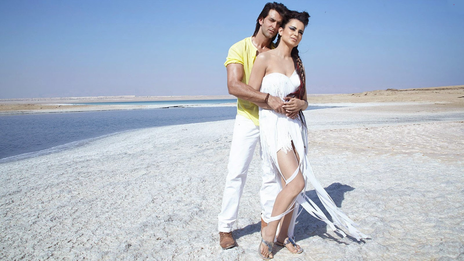 Kangana ranaut in krrish 3 with hrithik roshan hd shoot photo free