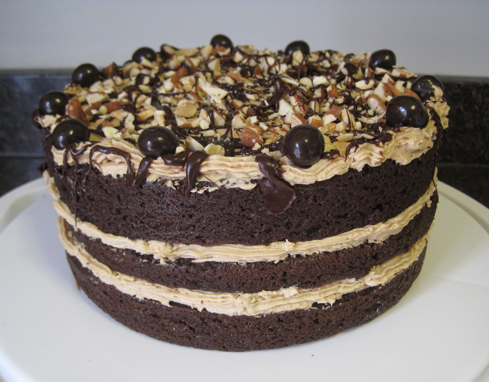 Mocha-Fudge Cake Recipe — Dishmaps