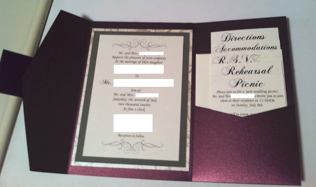 The bear necessities wedding wednesday diy invitations for Cards and pockets com