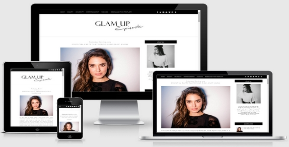 Glam Up Responsive Blogger Template Free Download