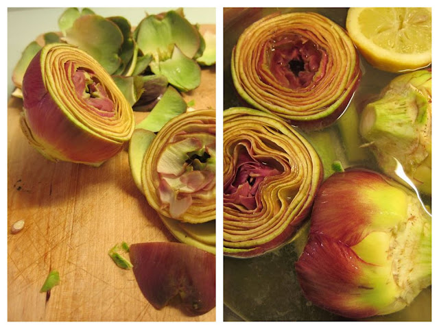 carciofi alla romana - how to clean an artichoke