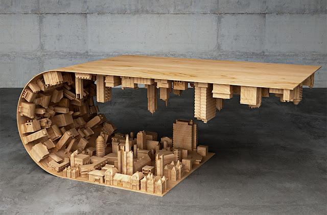 Diseño de mesa de madera
