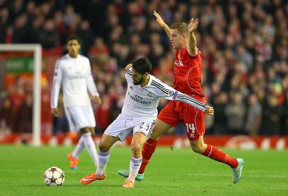 Agen Bola Terpercaya - Data Statistik Real Madrid Vs Liverpool 05/11/2014