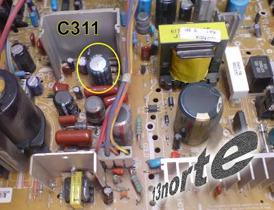 Capacitor inflado sección vertical