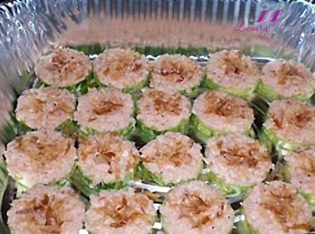 katsuobushi bonito tuna flakes cucumber appetizers party recipe
