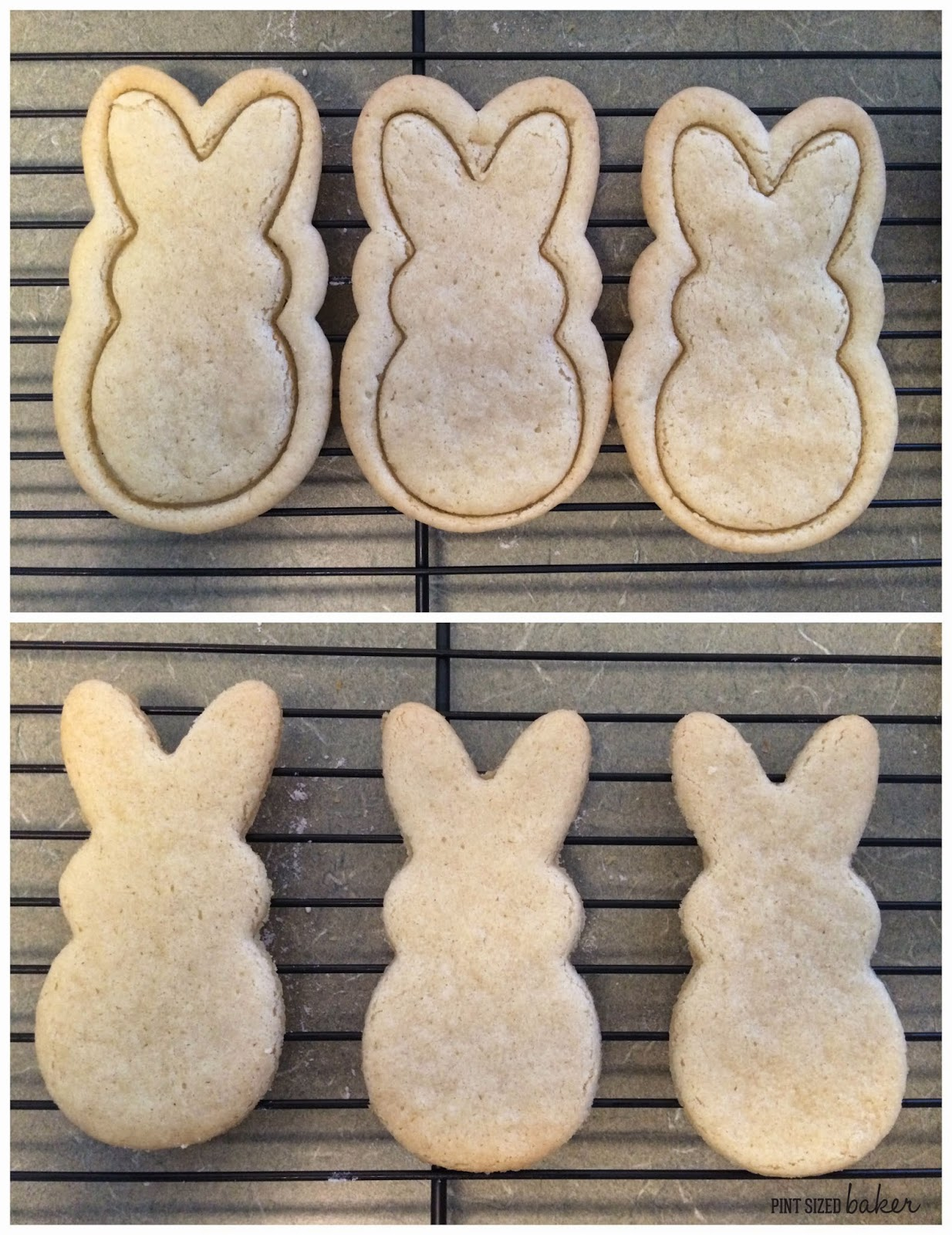 Bakes Tip - Baked sugar cookies for kinda ugly in the oven? No problem, just use your cutter to recut them so they are perfect once again!