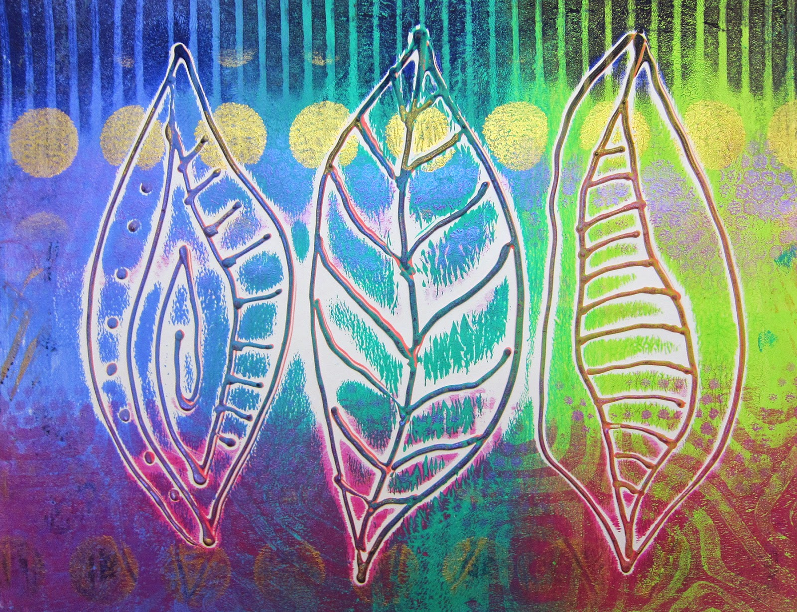 Heat Activated Paint Printing With Gelli Artsar May 2014