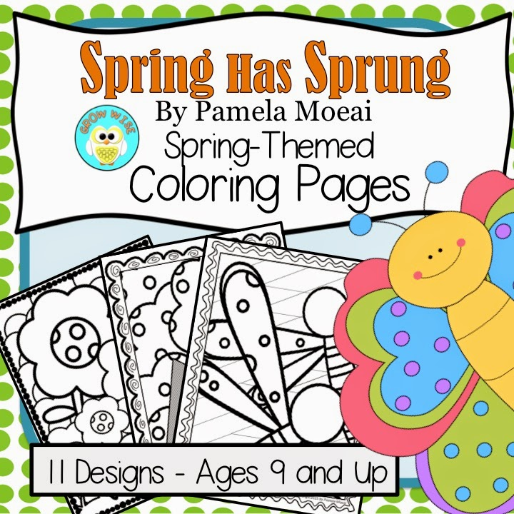 Sassy Spring-Themed Coloring