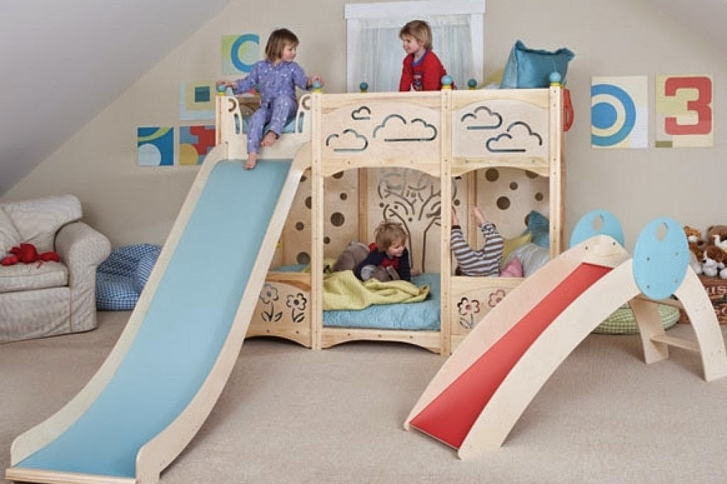 Decora hogar dormitorios con camarotes o literas modernas - Habitacion con literas para ninos ...