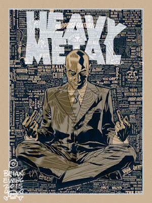 "San Diego Comic-Con 2015 Exclusive Grant Morrison x Heavy Metal x Brian Ewing ""Hail to the Chief"" Standard Edition Screen Print"