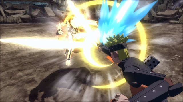 Mecha Naruto vs Biju Mode Naruto Storm Revolution