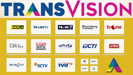daftar channel paket transvision terbaru