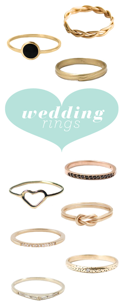 Last fall I wrote a post simple wedding rings and since then