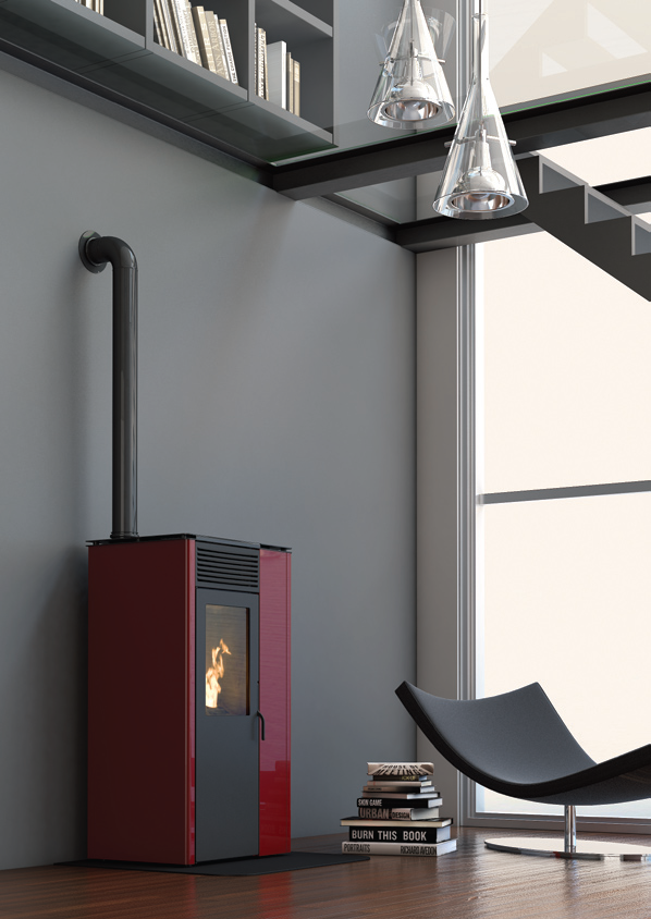decorfogostore salamandras a pellets air line. Black Bedroom Furniture Sets. Home Design Ideas