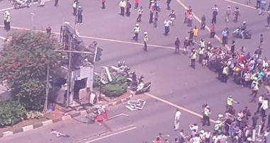 Kronologis Ledakan di Jl. MH Thamrin, Jakarta Pusat Dan Korban Yang Yang Meninggal