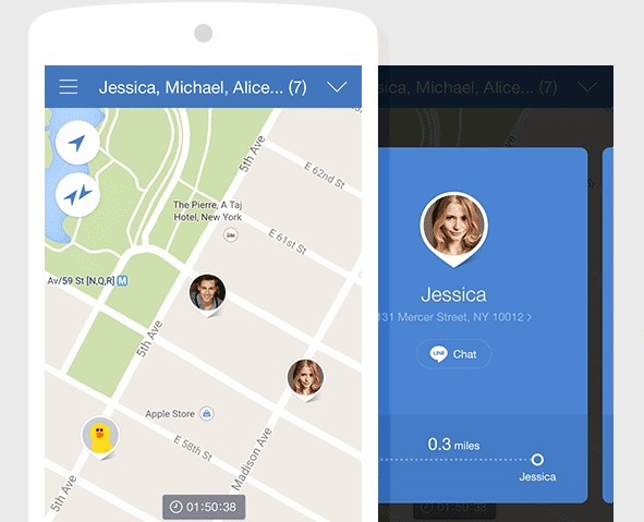 LINE launches LINE HERE real-time location sharing app for Android and iPhone