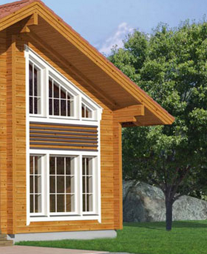 Beautiful two stages wooden house with balcony timber - Beautiful houses with balcony ...