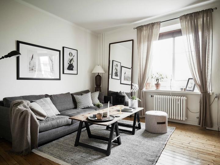 House of silver hyggelig lejlighed p bare 49 m2 - Espejos grandes para salon ...