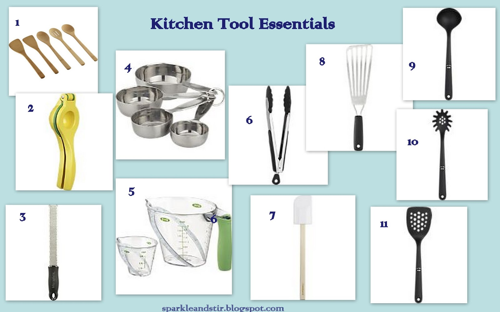 Kitchen utensils list with pictures and uses - Kitchen Tools Utensils And Their Uses
