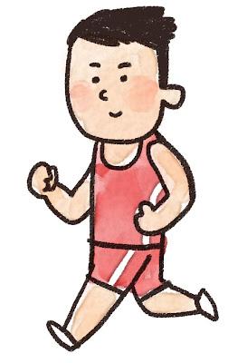 マラソン選手のイラスト(スポーツ)