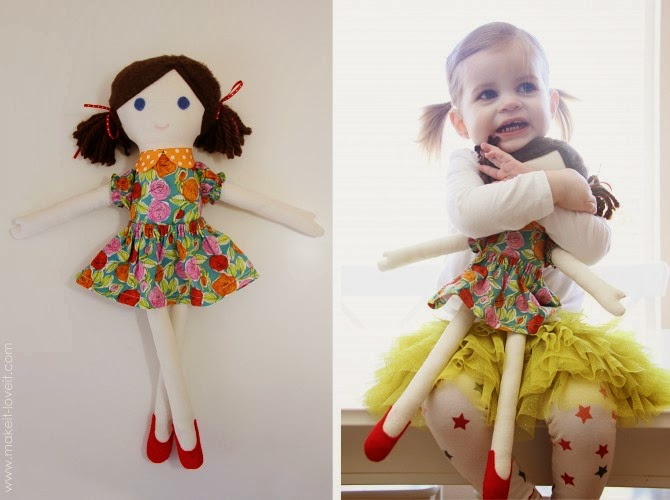 Как сделать куклу из ткани быстро