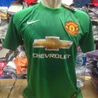 gambar jersey Gk man utd terbaru musim 2014/2015 kualitas grade ori , Manchester united hijau