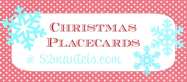 Mantels Free Christmas Place Cards - Christmas place cards template