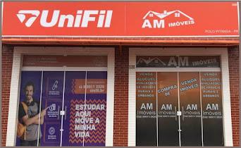 A UniFil polo de Pitanga fica em anexo a empresa AM Imóveis.