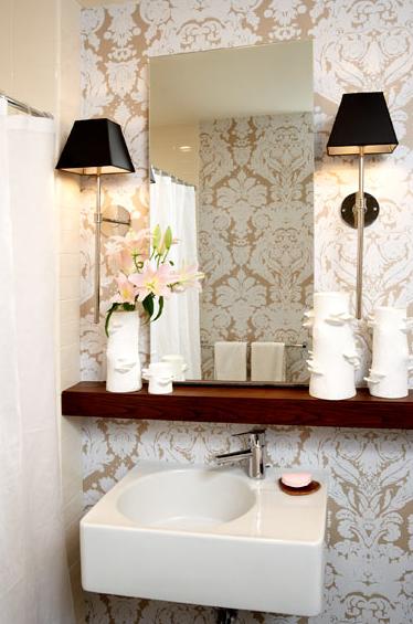 Coisas da Kátia Banheiro pequeno decorado -> Banheiro Decorado Com Cestas