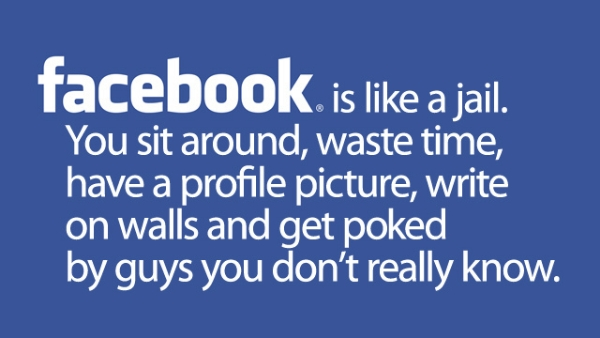 Funny image: facebook funny quits wallpaper
