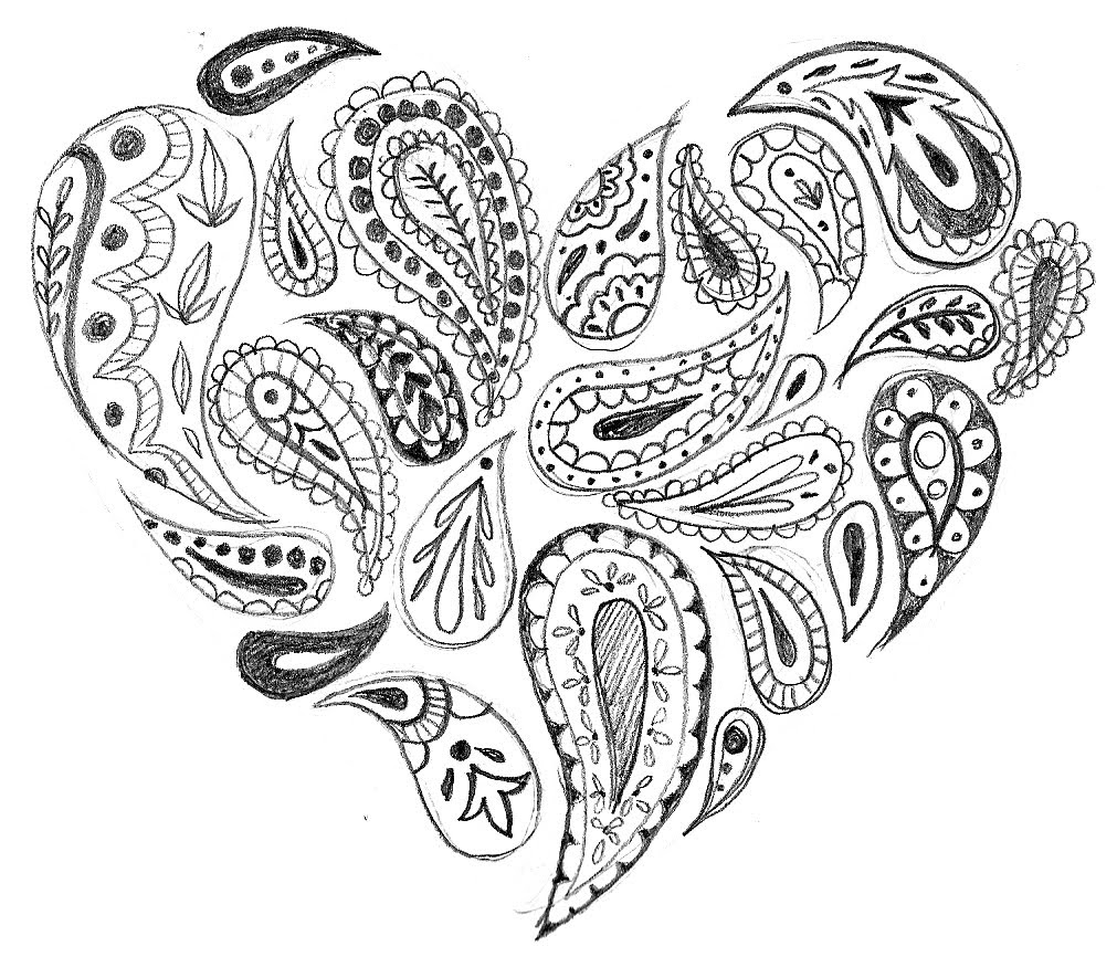 Magic image pertaining to paisley printable coloring pages
