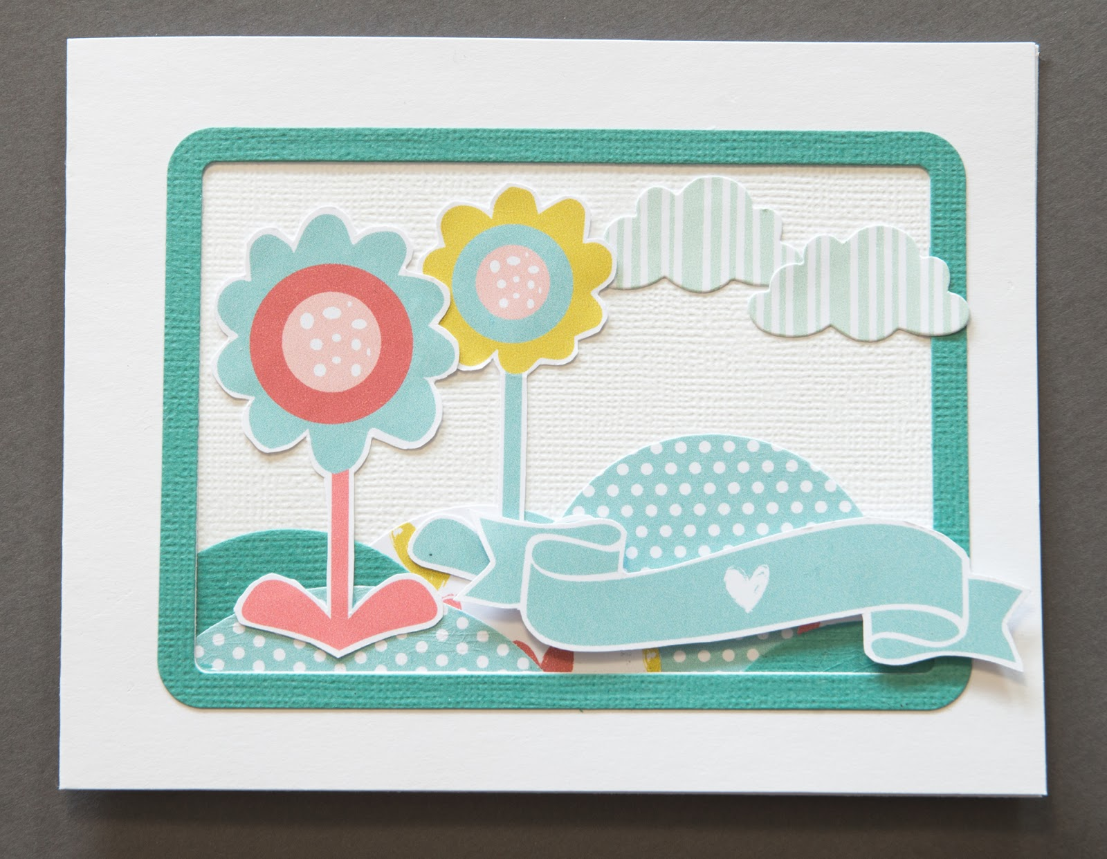 Card with flower scenery