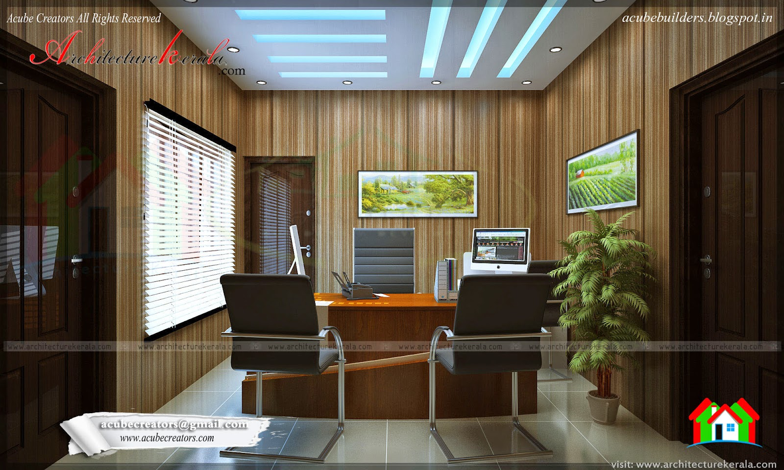 office space interior design architecture kerala