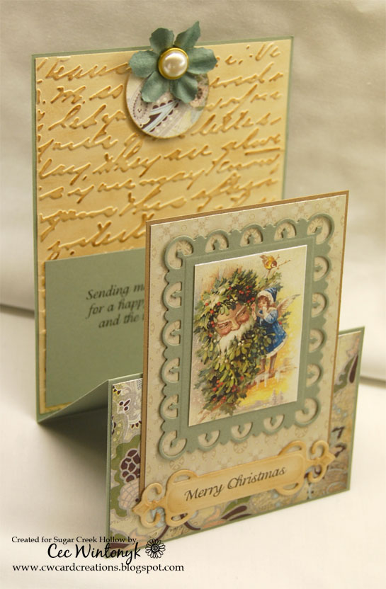 Cw card creations fancy fold for sugar creek hollow for How to make folded christmas cards