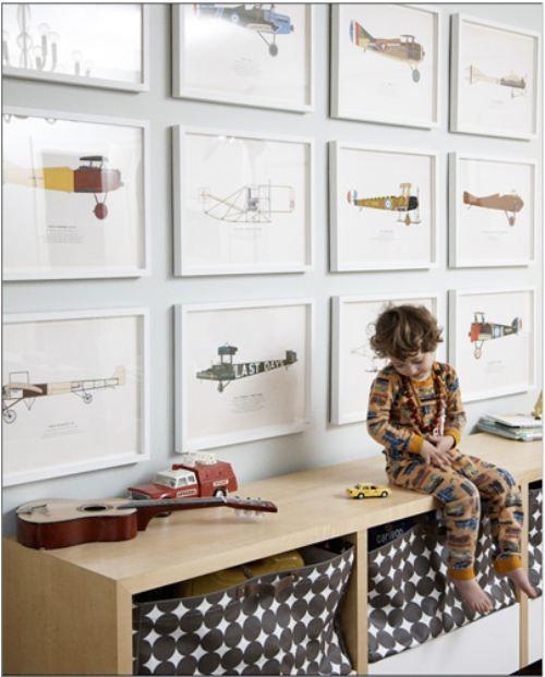 Déco cadres vintage chambre enfant | girlystan.com