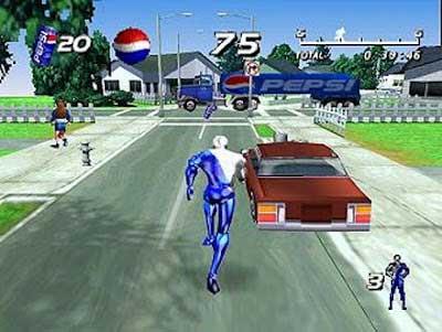 Screen Shot Of Pepsiman (1999) Full Version PC Game Free Download At Downloadingzoo.Com
