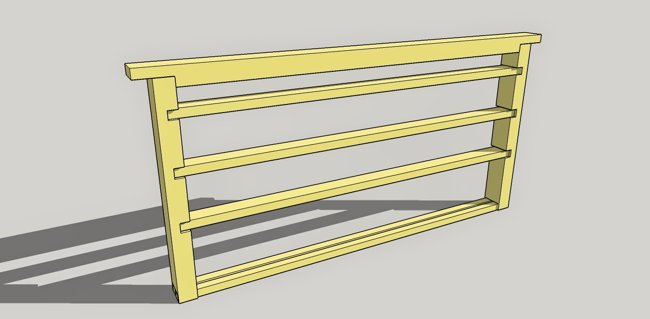 Honeydrunk Apiares: Build Your Own: Queen Rearing Cell Bar Frame