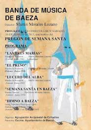 PREGÓN 2013 - CONCIERTO - PROGRAMA - BANDA DE MÚSICA DE BAEZA