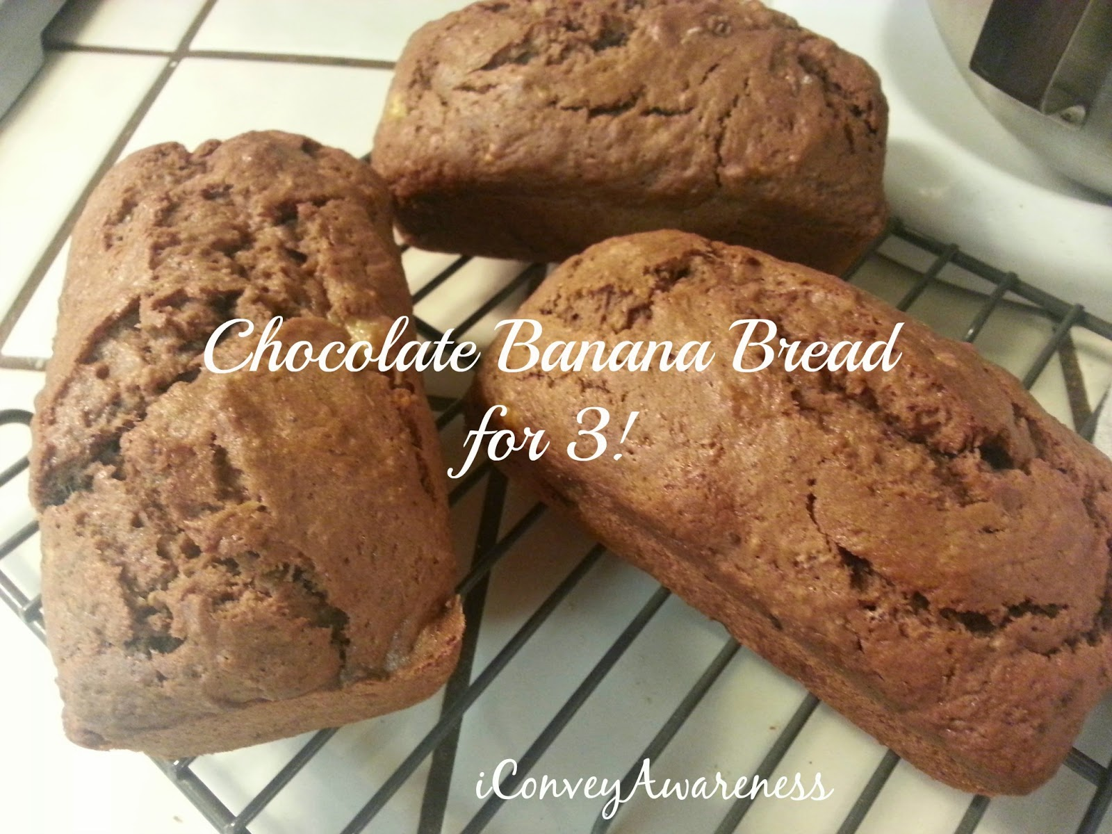 iCA | Chocolate Banana Bread *GF* for 3!