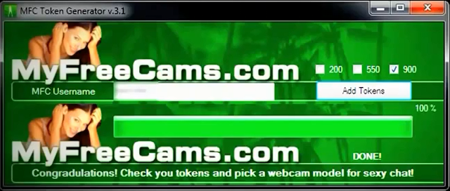 my free cams token